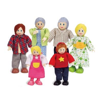 Puppenfamilie Helle Hautfarbe - HAPE