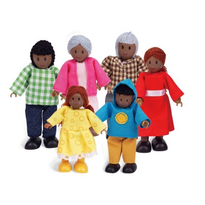 Puppenfamilie Dunkle Hautfarbe - HAPE