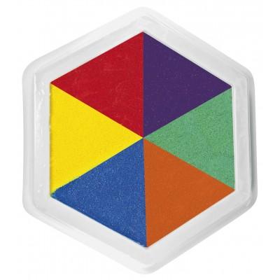 Riesenstempelkissen, Multicolor, 6 farbig