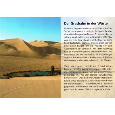 Der Grashalm in der Wüste - Geschichtenkarte