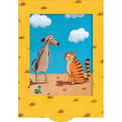 Lebende Karte - Hund und Katze