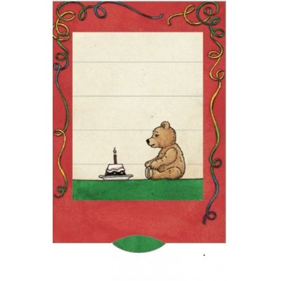 Lebende Karte - Geburtstagsbär