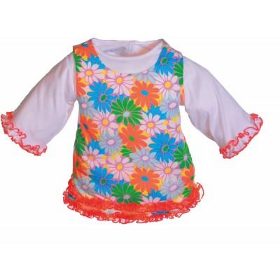 Geblümtes Kleid (für 45 cm)