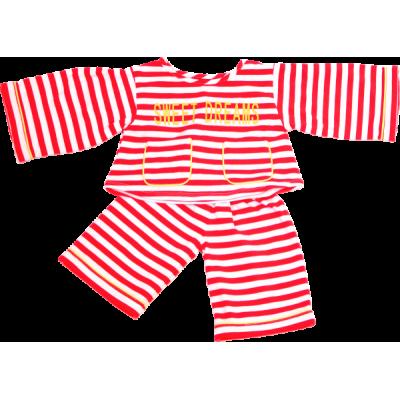 Pyjama rot/weiß (für 65 cm)