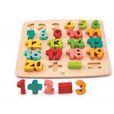 Puzzle mit Zahlen und Rechensymbolen