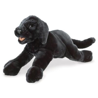 Schwarzer Labrador Welpe - Folkmanis