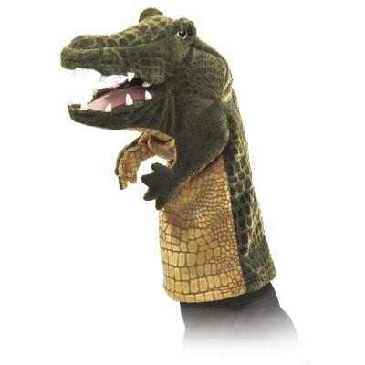 Krokodil für Puppenbühne / Handpuppe