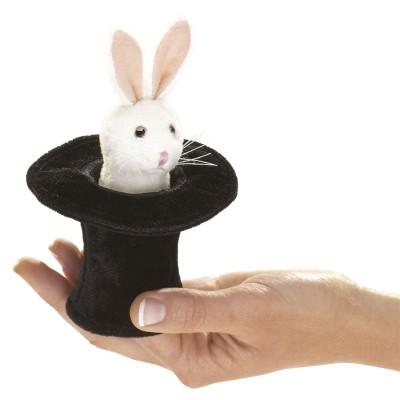 Kaninchen im Hut - Fingerpuppe