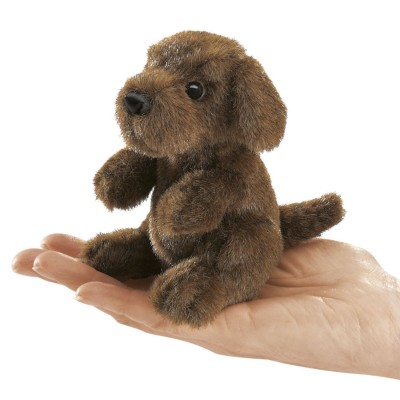 Sitzender Hund - Fingerpuppe