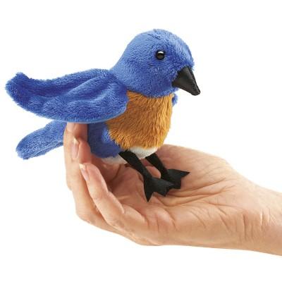 Hüttensängervogel (blau) - Fingerpuppe