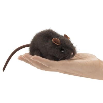 Braune Maus - Fingerpuppe