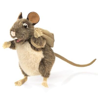 Ratte mit Rucksack - Folkmanis